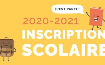 Inscription Scolaire 2020 – 2021